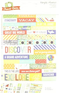 Simple Stories Travel Notes 4x6 Stickers