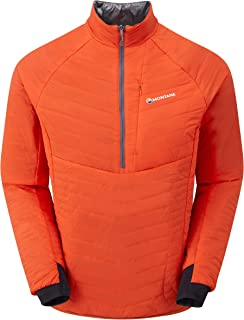 Montane Mens Via Fireball Verso Pull-On Jacket Top Orange Sports Outdoors Half