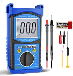Holdpeak HP-6688H Digital Multimeter High Precision 40000 Counts TRMS Multimeter Auto Ranging with Data Hold AC DC Voltage AC DC Current Ohm Volt Meter Diode Test Capacitor Tester with Backlight
