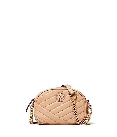 Tory Burch Kira Chevron Small Camera Bag (Devon Sand) Handbags