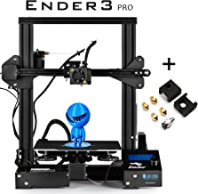 SainSmart x Creality Ender-3 PRO 3D Printer with Upgraded C-Magnet Build Surface Plate Mat, UL Certified Power Supply, Extra 4 Nozzles, Build Volume 220 x 220 x 250 mm