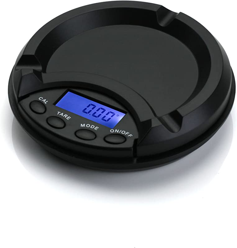 American Weigh Scales AT Series Ashtray Scale Black 100 X 0 01 G ATS 100 PL