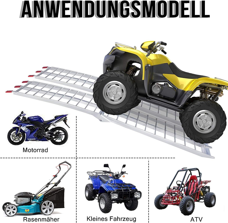 engins de chantier tracteurs de pelouse 680 kg Pour motos NAIZY Lot de 2 rampes de chargement pliables en aluminium petits v/éhicules Marches en dents de scie Antid/érapantes voitures