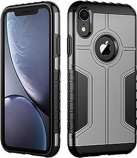 JETech Funda Compatible iPhone XR, Carcasa Protectora de Doble Capa Absorción de Choque, Gris