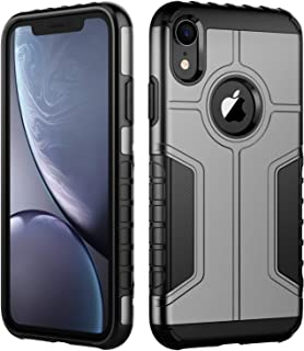 JETech Case for iPhone XR, Dual Layer Protective Cover with Shock-Absorption (Grey)
