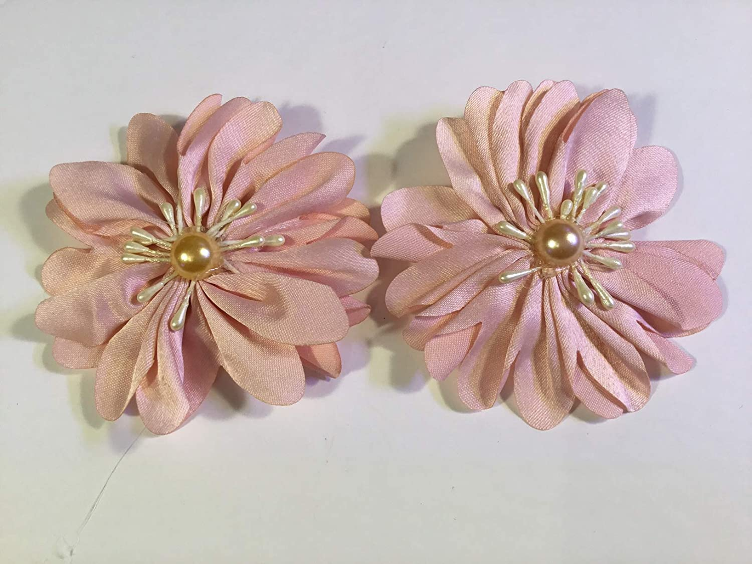 Light Pink color Fabric Flowers Pearl Bead with like unisex 2021 Center