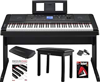 Yamaha DGX-660 88 Key Grand Digital Piano with Knox Piano Bench,Pedal,Dust Cover and Book/DVD
