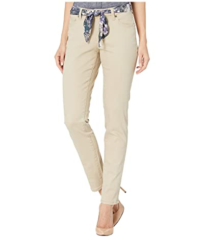 Jag Jeans Carter Girlfriend Jeans with Satin Belt (Khaki) Women
