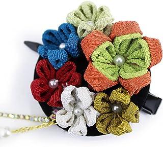 (オオキニ)大喜賑 髪飾り 和装 つまみ細工 レトロ コサージュ クリップ 浴衣 着物 (4種)