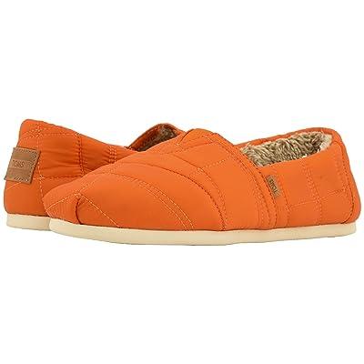 TOMS Venice Collection Alpargata (Burnt Orange Quilted Nylon) Men