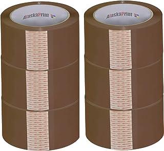 Alaskaprint 6 rollen 48 mm x 66 m bruin pakket plakband pakket plakband pakkettape kleefrol pakband voor pakjes en dozen