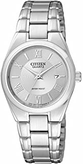 Women's EU3060-51A Silver Stainless-Steel Quartz Watch with Silver Dial