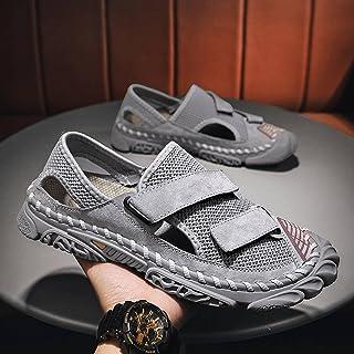 صنادل رجالي صيفية أحذية شبكية قابلة للتنفس مانعة للانزلاق أحذية الشاطئ للرجال