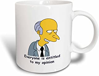 3dRose Everyone is Entitled to My Opinion Ceramic Mug, 11-Ounce