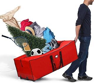 Marabell Premium Quality Heavy Duty Storage Bag with Wheels (Regular, Red)