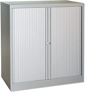 trExUs Tambour armario lateral de acero W1000X D470X H1016mm gris