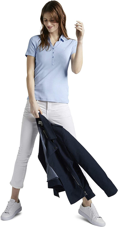 TOM TAILOR Damen Poloshirts Poloshirt mit Kleiner Stickerei