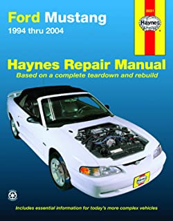 Ford Mustang (94-04) Haynes Repair Manual (Does not include independent rear suspension/driveaxles in 99 and later Cobra models or information on the ... models.) (Hayne's Automotive Repair Manual)