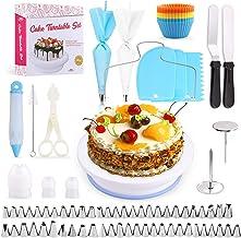 Cake Decorating Equipment, SPLAKS 106pcs Cake Decorating Set Cupcake Decorating Kit Baking Supplies Cake Turntable Set wit...