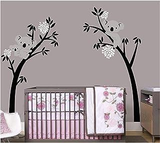 BDECOLL Lot d'autocollants muraux Motif maman et bébé koala sur un arbre Idéal pour décorer une chambre d'enfant/une crèch...