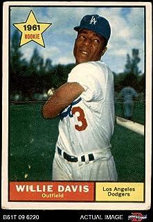 1961 Topps # 506 Willie Davis Los Angeles Dodgers (Baseball Card) Dean`s Cards 1.5 - FAIR Dodgers Grambling St