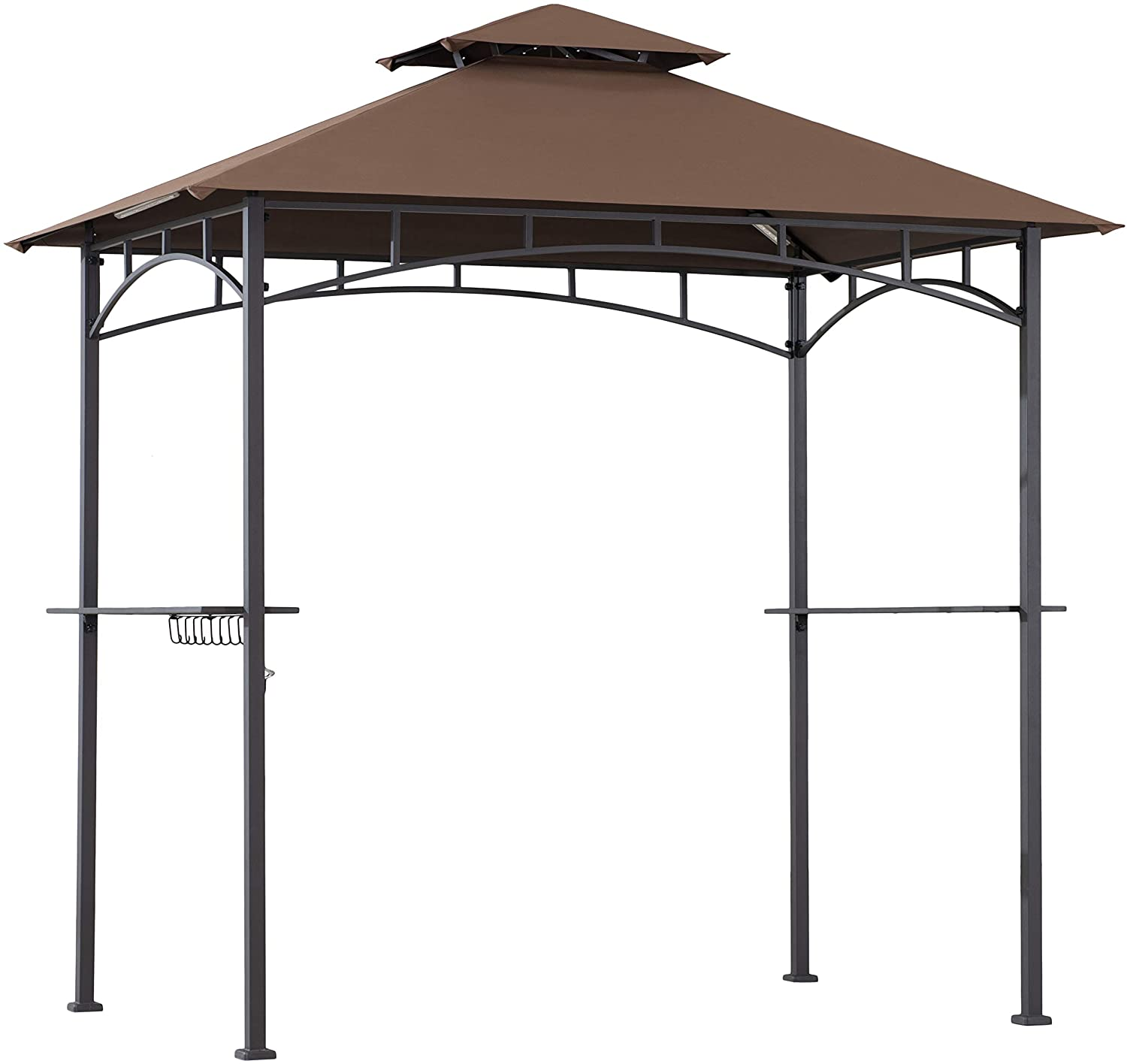 Easy-to-use Amazon Basics Outdoor Patio Grill Gazebo for LED Lights Bar Spring new work one after another with