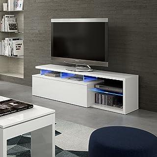 HOGAR24.es Mueble Salon Comedor TV con Leds Color Blanco