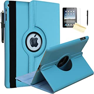 JYtrend Case for 2019 iPad 10.2 inch, for iPad 7th Generation, Rotating Stand Smart Magnetic Auto Wake Up/Sleep Cover for Model A2197 A2200 A2198 A2199 MW722LL/A MW6W2LL/A MW702LL/A (Blue)