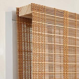 BCGT Stores à rouleaux avec 15cm Valance, léger rideau de bambou for Windows et porte, Largeur 80/105/125 / 145cm (Size : ...