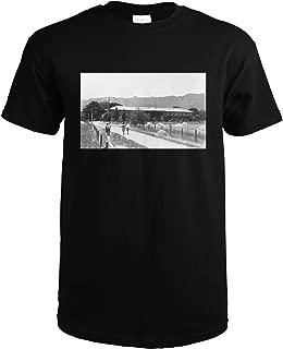 Aqua Caliente, California - View of Aqua Caliente Springs Fireproof Hotel 12401 (Black T-Shirt X-Large)