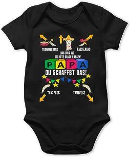 Shirtracer Strampler Motive - Papa du schaffst das Lama - Baby Body Kurzarm für Jungen und Mädchen