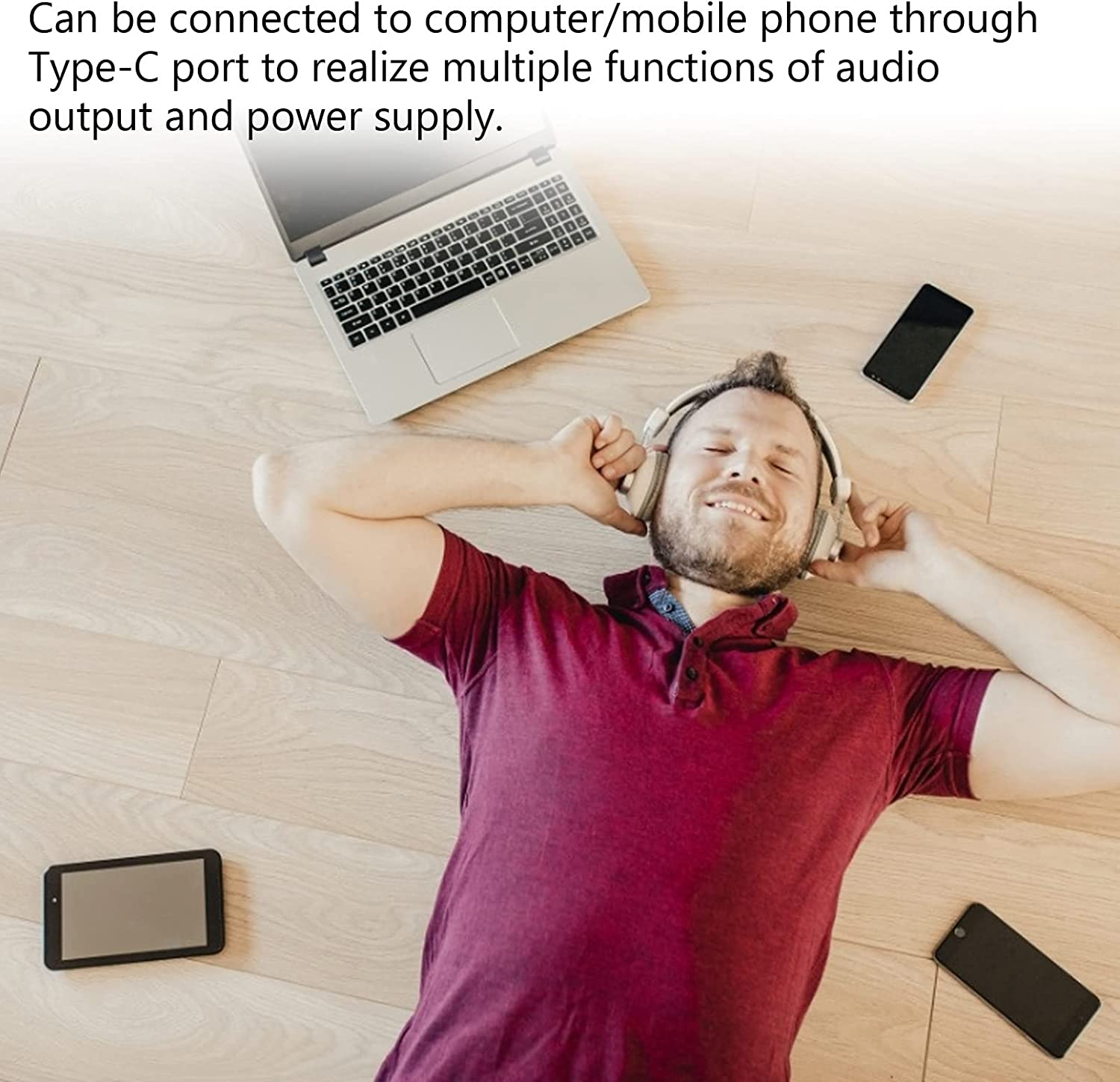 USB C Hub for MacBook Pro Laptop Tablet, Portable 4 Port USB to Type‑C Adapter, USB Multi‑Port Expansion, Support OTG Function, 5Gbps