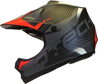 Qtech Kinder Motocross MX Helm MX BMX Quad ATV Motorradhelm Motorrad - Rot - S 53-54cm
