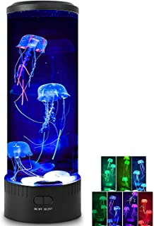 Jellyfish Lamp - HaiZR Jellyfish Lava Lamp LED Color Changing Light, Aquarium Round Artificial Jellyfish Night Light for H...