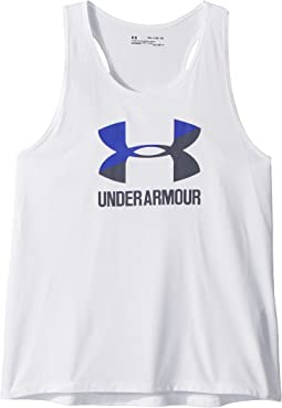 Under Armour Kids UA Big Logo Slash Tank Top (Big Kids)