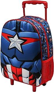 Capitán América Civil War - Mochila 3D con Ruedas (Pequeña), Negro