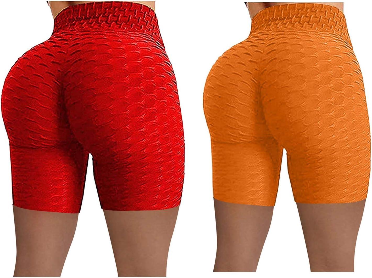 SALENEW very popular Mail order cheap Gwewei4df Women's 2PC High Waist Yoga Hip Bubble Pants Lifting S