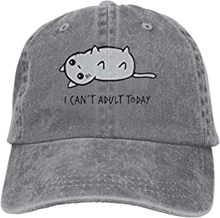 Unisex Hats I Cant Adult Today Cat Leisure Casquette Black