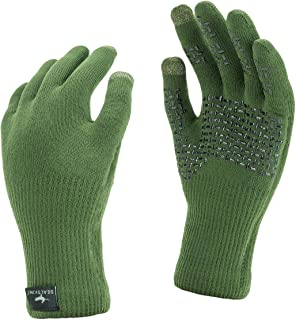 SealSkinz 100% Waterproof Glove - Windproof & Breathable, Knitted with Added Grip & Touchscreen Function Suitable for Walking, Camping, Hiking, Fishing and Activities in All Weather Conditions