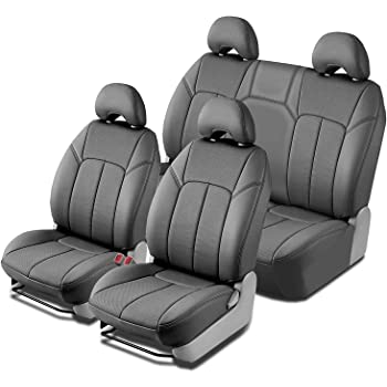 Clazzio 704111blk Black Leather Front Row Seat Cover for Dodge Ram 1500 Quad Cab