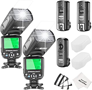 Neewer NW-562 E-TTL Flash Speedlite Kit for Canon DSLR Camera, Include:(2)NW-562 Flash + (1)2.4Ghz Wireless Trigger(1 Transmitter + 2 Receiver)