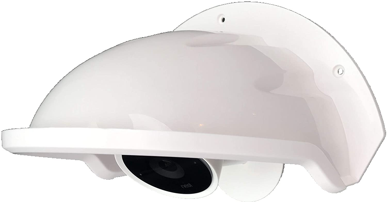 Universal Sun Rain Shade Camera Cover Shield for Nest/Ring/Arlo/Dome/Bullet Outdoor Camera - White