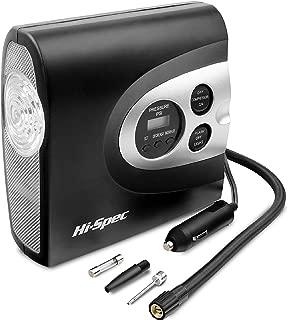 Hi-Spec 12V Digital Air Compressor Tyre Inflator with Digital Pressure Gauge, Auto Shut-Off, 150PSI Max Pressure & 3 Adapters, Pump for Car Tires, Balls, Bikes, Pool Toy, Inflatable Mattress Bed