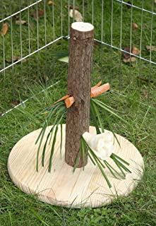 Kerbl Karmnik Nature dla gryzoni/królików (odmiana, zabawka dla gryzoni, wysokość 30 cm, dozownik pokarmu z drewna, drzewo...