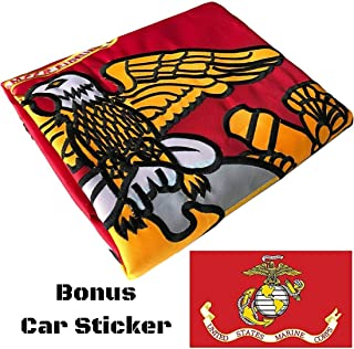 marine corps wooden flag