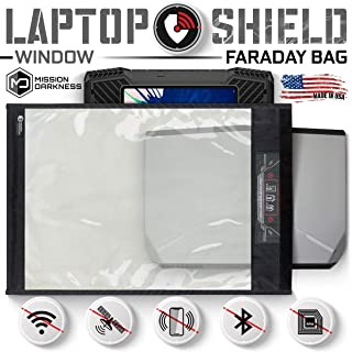 Mission Darkness Window Faraday Bag for Laptops - Device Shielding for Law Enforcement, Military, Executive Privacy, EMP Protection, Travel & Data Security, Anti-Hacking & Anti-Tracking Assurance