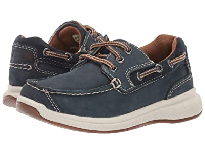 Florsheim Kids Great Lakes Moc Ox, Jr. (Toddler/Little Kid/Big Kid) (Indigo Smooth/Suede) Boy