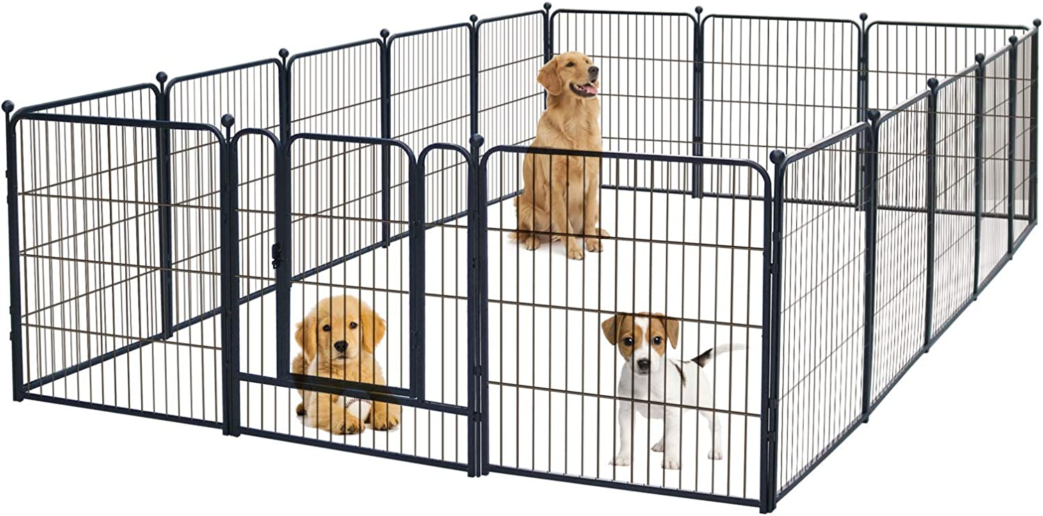 Buy GDKASRNY Puppy Playpen, Metal Heavy Duty Dog Exercise Protect ...
