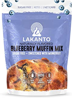 Lakanto Blueberry Muffin Mix - Sugar Free, Naturally Flavored, Healthy Keto Friendly, Sweetened with Monkfruit Sweetener, ...