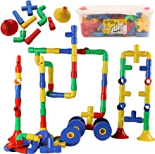 Smart Builder Toys 136 Piece Tube Locks Construction Building Set with Storage Container for Kids